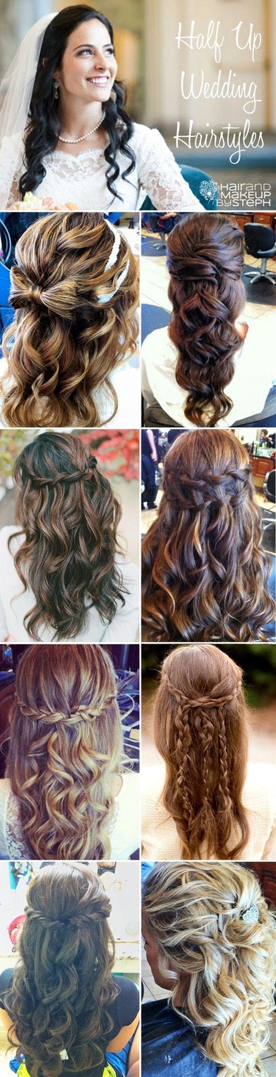 Pleasant 16 Overwhelming Half Up Half Down Wedding Hairstyles Pretty Designs Short Hairstyles Gunalazisus