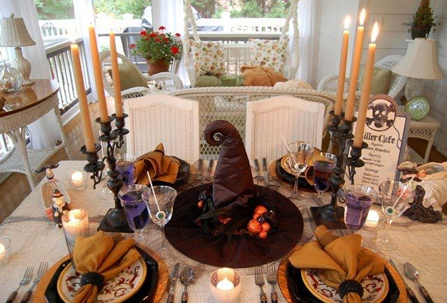 Halloween Table with Candles
