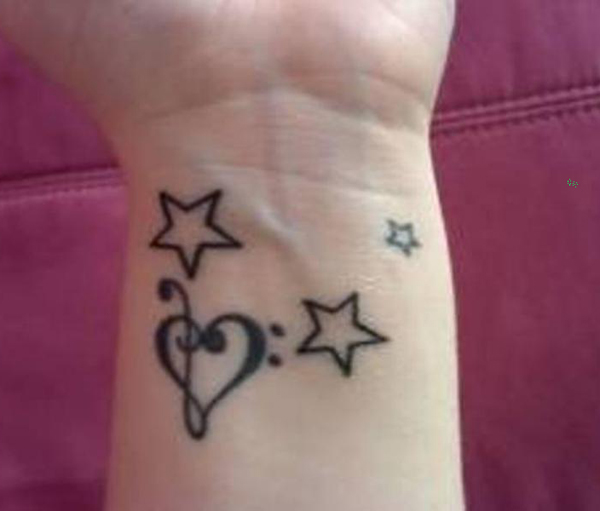 Heart and Star Tattoo