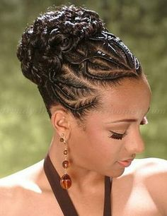 Updo Hairstyles With Bangs For Black Women 41