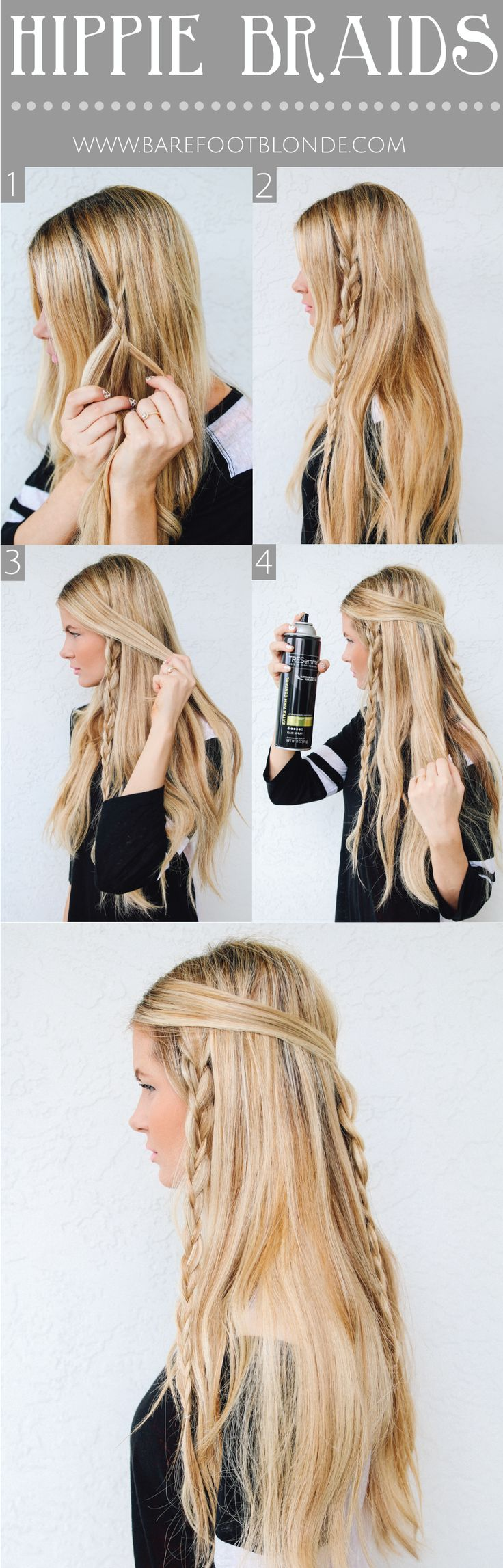 Hippie Braids for Long Blonde Hairstyles