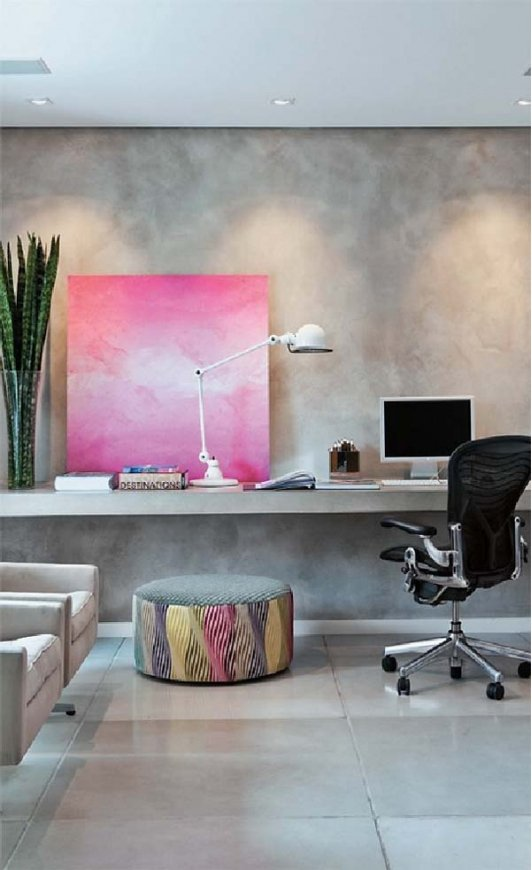 Home Office with Wall Art