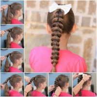 Inverted Hearted Shaped Ponytail Hairstyle