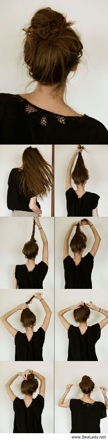 Knotted Top Bun Hairstyle