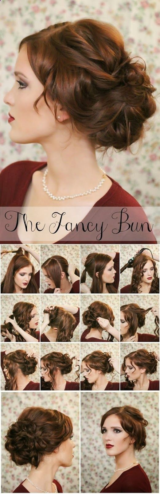 10 Pretty and Chic Updos for Medium Length Hair - Pretty Designs