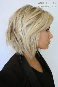 Layered Blond Bob Haircut