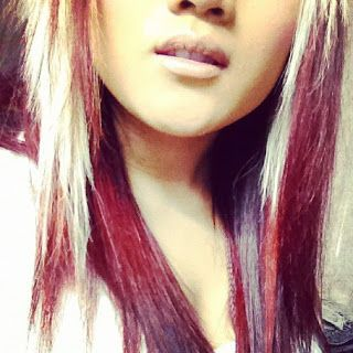 Layered Blonde Hair With Red Highlights