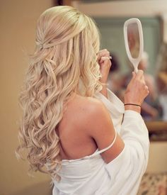 Long Blond Curly Hairstyle