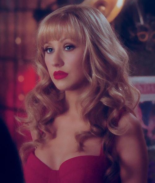 Long Curly Hair With Bangs - Christina Aguilera Hairstyles