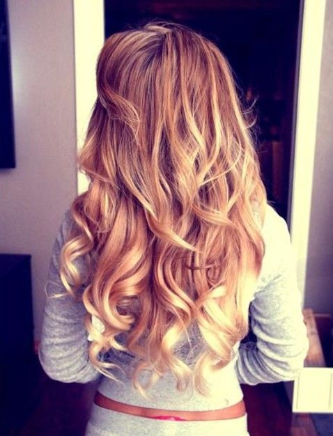Long Curly Ombre Hairstyle