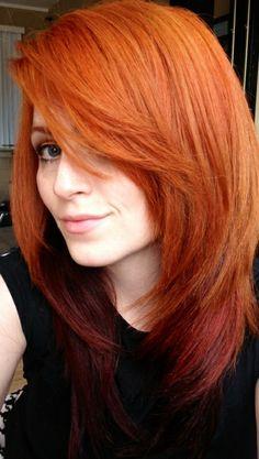 Long Layered Orange Hairstyle