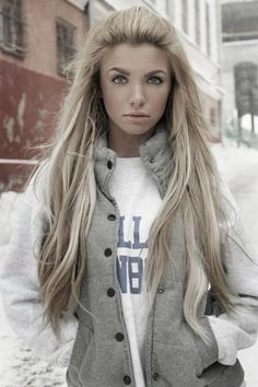 Long Straight Blond Hairstyle
