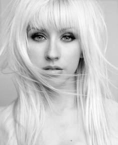 Long Straight Hair With Bangs - Christina Aguilera Hairstyles