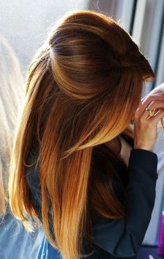 Long Straight Ombre Hairstyle