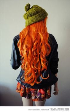 Long Wavy Orange Hairstyle
