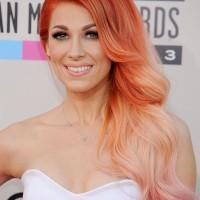 Long Wavy Orange Hairstyle