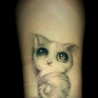 Lovely Cat Tattoo