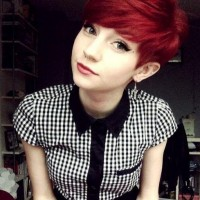 Lovely Pixie Haircut for Red Hair