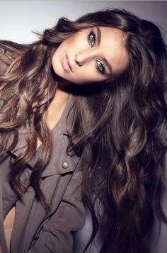 Luscious Brunette Hairstyle for Thick Hair