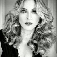 Medium Curly Wavy Hair for Madonna Hairstyles