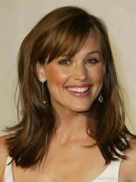 Medium Hairstyle With Bangs for Brunette Hair