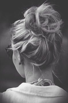 Messy Top Bun Hairstyle