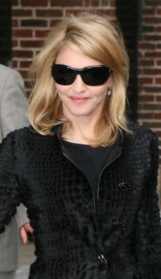 Mid-length Blond Hair for Madonna Hairstyles