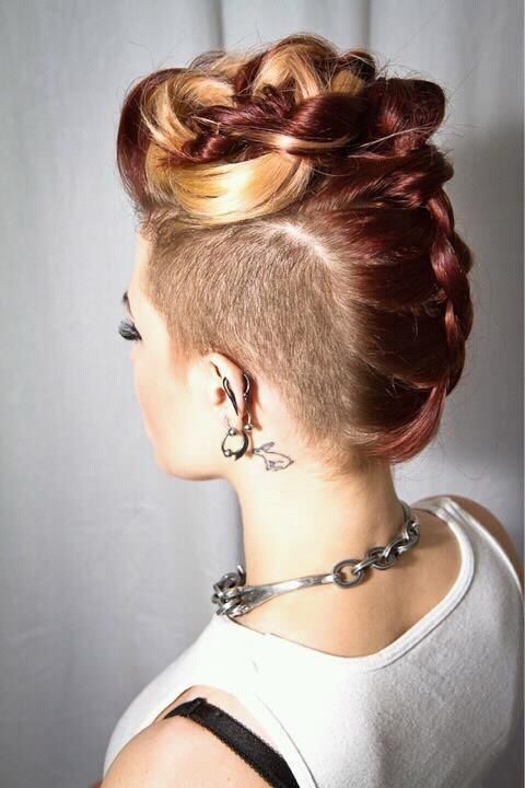 Mohawk Hairstyle for Blond Hair