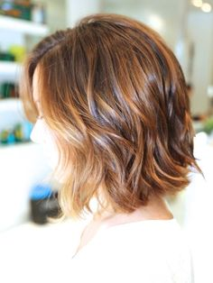 Ombre Wavy Bob Haircut