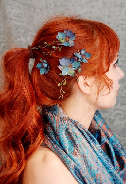 Orange Ponytail Hairstyle