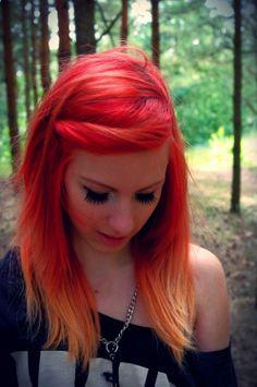 Orange Punk Hairstyle
