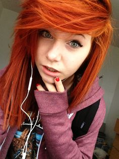 Orange Punk Hairstyle