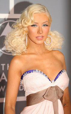 Pin Up Hair - Christina Aguilera Hairstyles