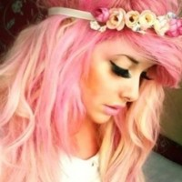 Pink Hairstyle With Headband