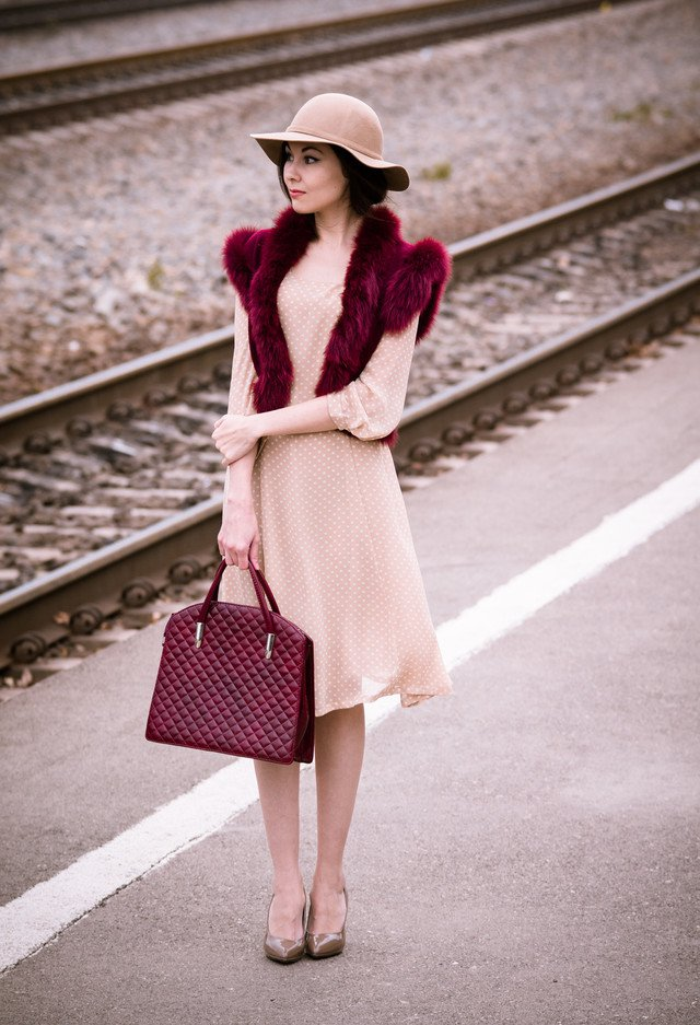 Polka Dotted Dress for Women