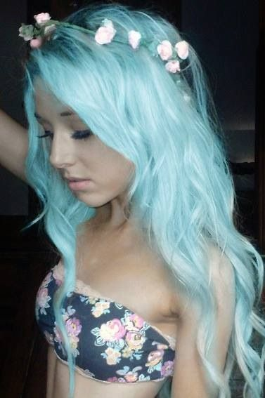 Pretty Blue Hairstyle