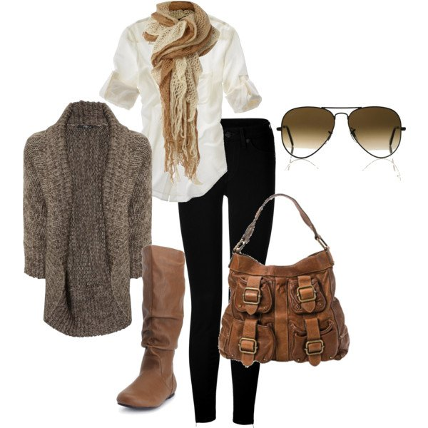 Pretty Fall Outfit With Sweater