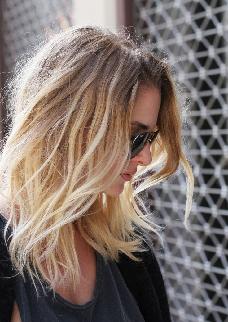 Pretty Ombre Waves for Shoulder-length Hair