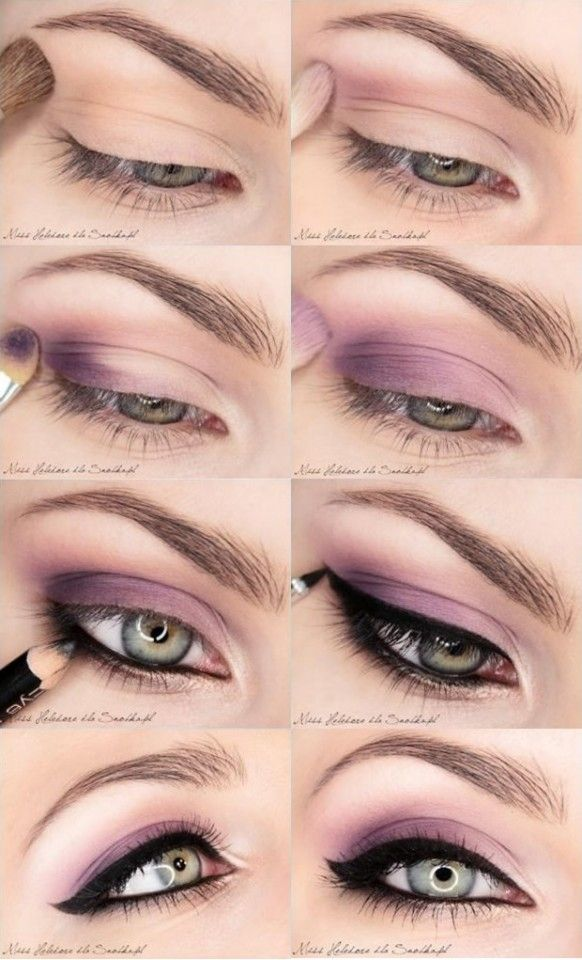 Pretty Pastel Purple Eye Makeup Tutorial with Black Eye Liner