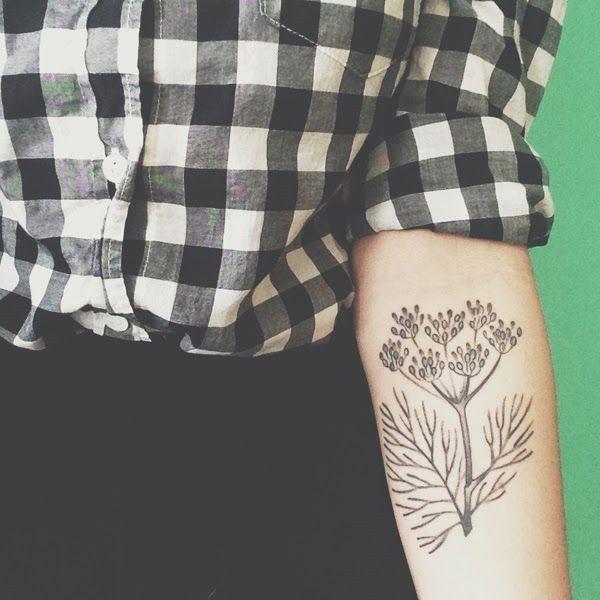Pretty Plant Tattoo
