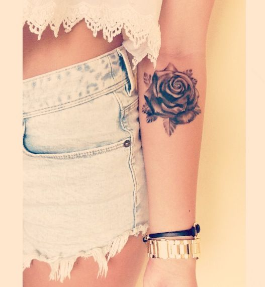 tattoo pretty rose designs most lovely tattoos flower roses woman arm cute simple forearm nice gorgeous tatoo foot tattos via