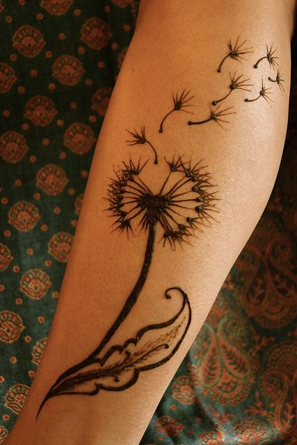 15 dandelion tattoo designs to be adored pretty designs. Black Bedroom Furniture Sets. Home Design Ideas