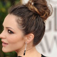 Pretty Top Bun Hairstyle