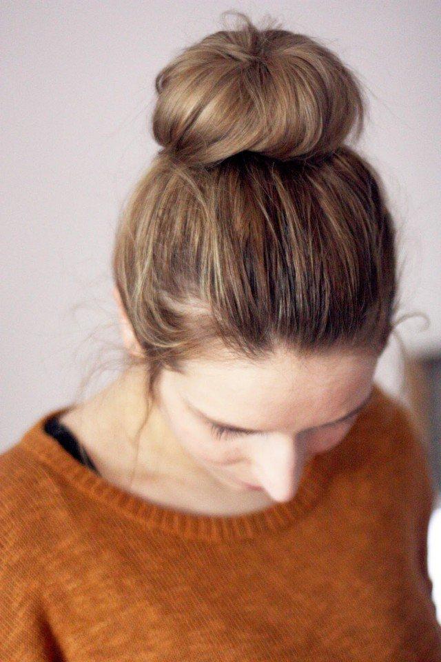 Pretty Top Bun for Dark Hair