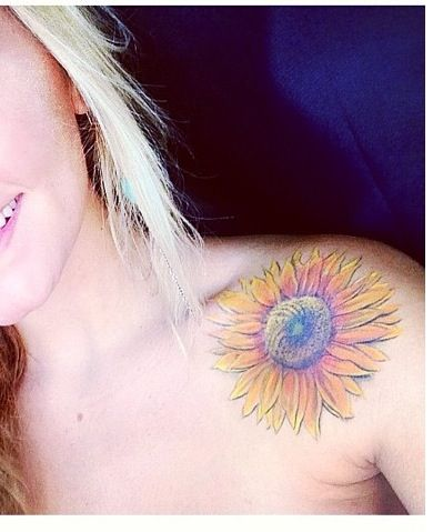 Pretty Water Color Tattoo