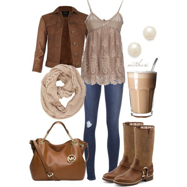 Pretty and Stylish Outfit for Fall