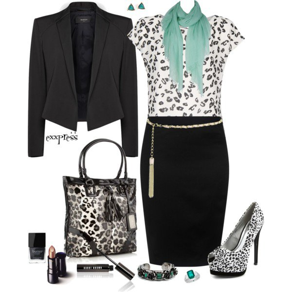 Printed Outfit Idea for Office Look