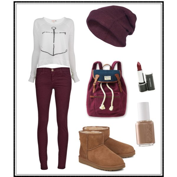 Purple Outfit Idea for Fall