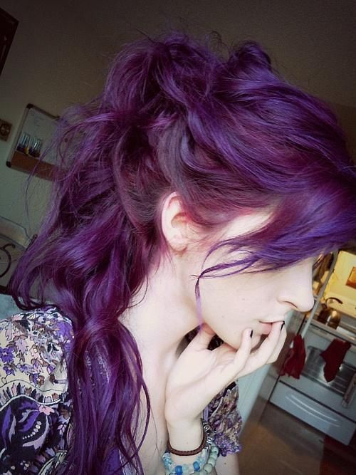 Hairstyles Purple : 16 Glamorous Purple Hairstyles - Pretty Designs