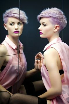 Purple Punk Hairstyle